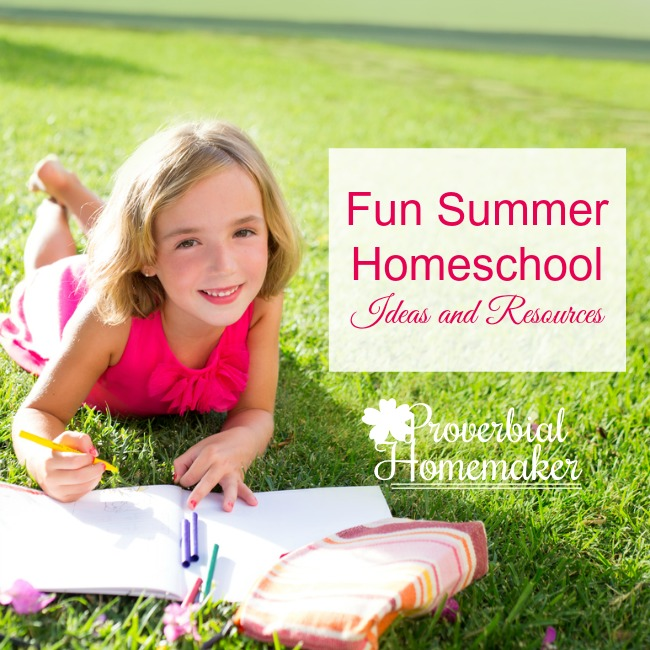 Use these fun summer homeschool ideas to make school exciting all year! Whether you homeschool year-round or not, you can use the change of pace during summer to try out some new resources and activities with your kids.