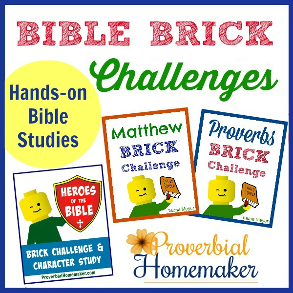 Bible Brick Challenges - learn about God's word in a fun, hands-on way with Bible studies and build challenges!