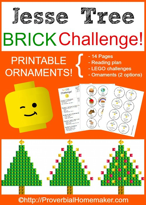 Jesse Tree BRICK Challenge - Using Legos to complete the Jesse Tree advent activity!