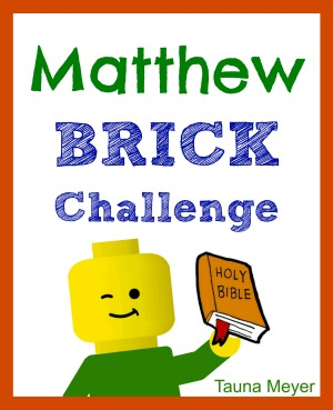 Kids learn the Matthew while playing with bricks! Includes 70+ pages of challenges, copywork, and notebooking pages.