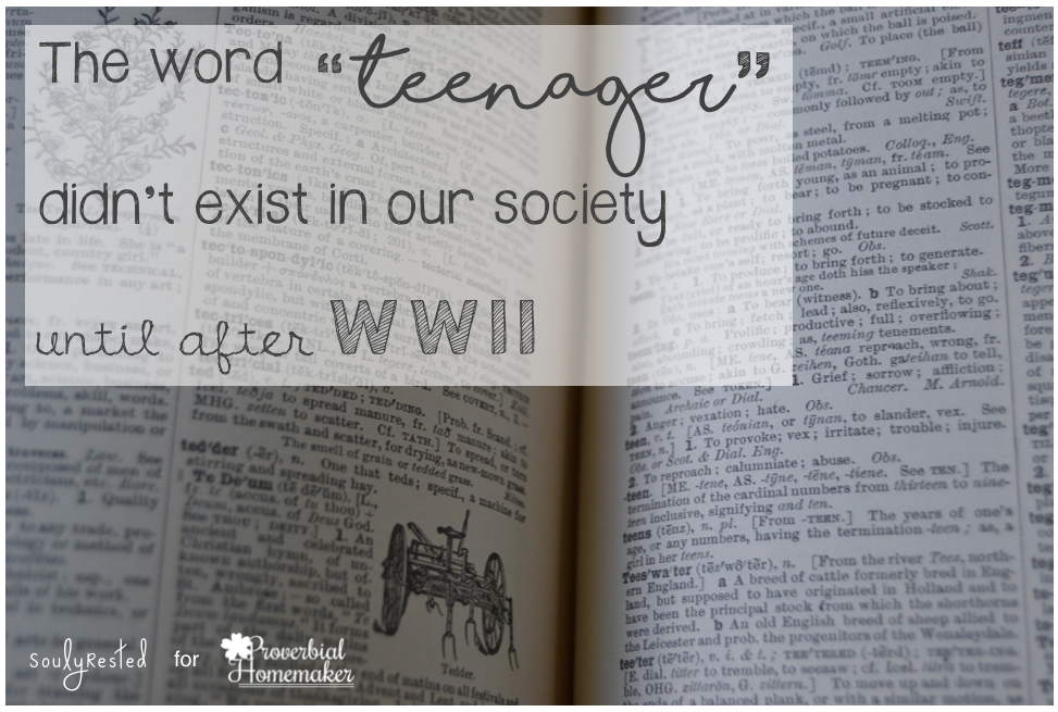 the word teenager didn't exist