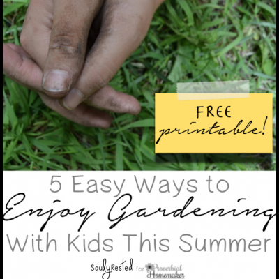 5 Easy Ways to Enjoy Gardening With Kids