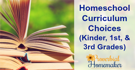 Great homeschool curriculum choices and ideas for 3rd grade on down!