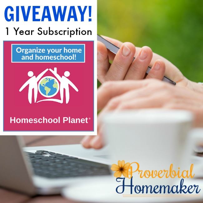 Giveaway of 1-year subscription to Homeschool Planet