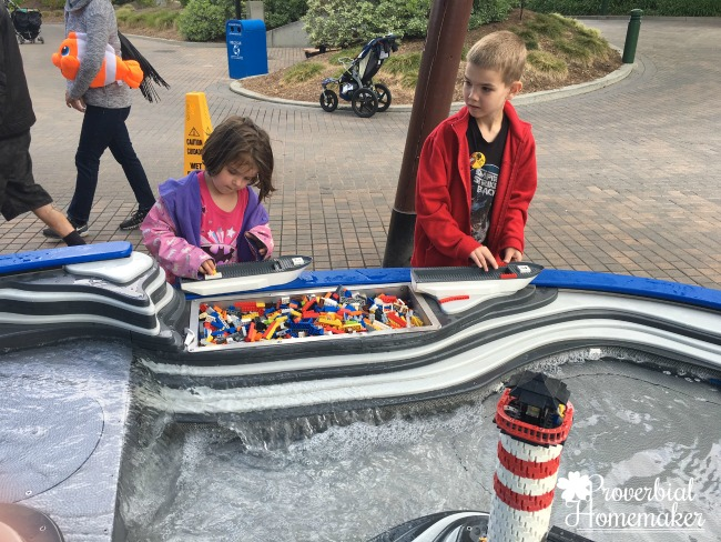 Building boats at Lego Land California (LEGOLAND for Multiple Ages)