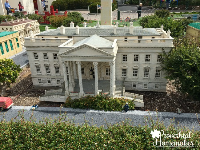 Elaborate buildings and cities built from Legos at Lego Land California (LEGOLAND for Multiple Ages)