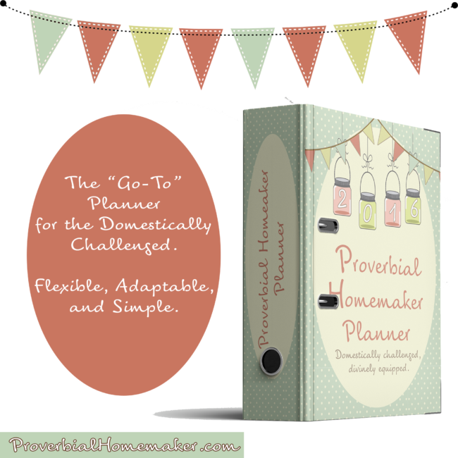 Proverbial Homemaker Planner - this is the BEST planner! It's a flexible, adaptable, and simple homemaking planner that's designed just for you and comes with a step-by-step eCourse!