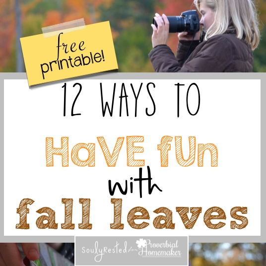 Here are a dozen fun and unique ways to have fun with fall leaves!