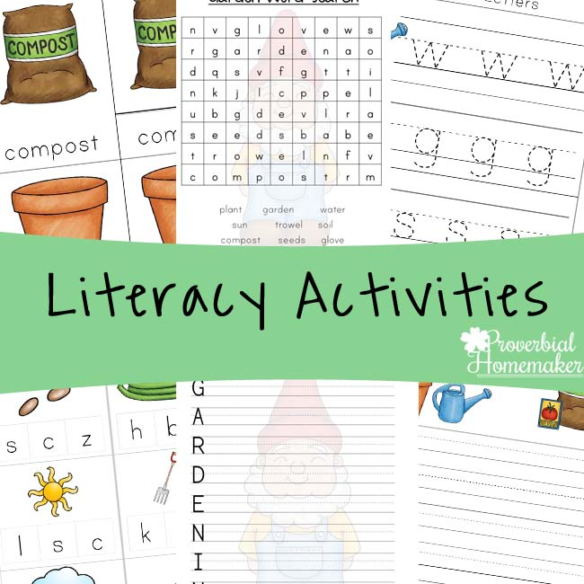 Garden Printable Pack Literacy