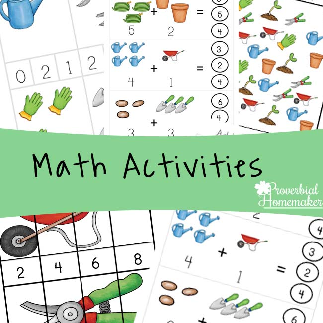 Garden Printable Pack Maths