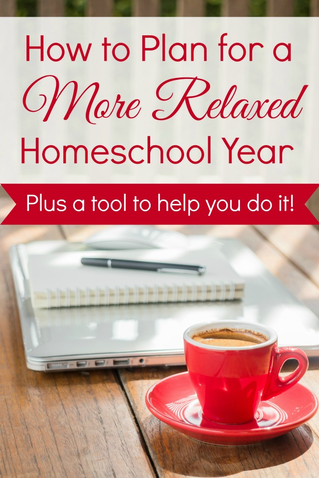 Find out how you can use a unique planning approach for a more relaxed homeschool year!