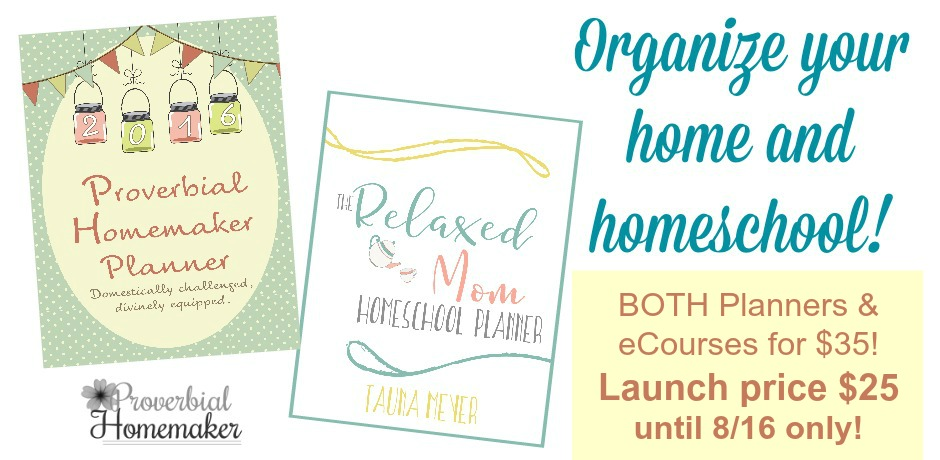 Organize your home and homeschool with this planner and eCourse bundle