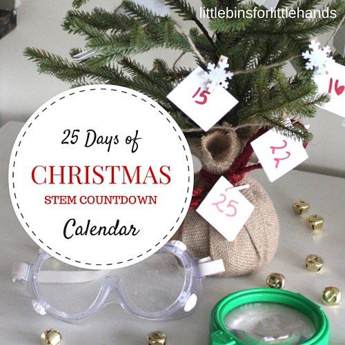 25 day Christmas countdown tree using STEM activities