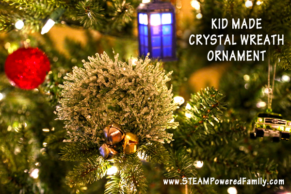 Crystal Christmas Tree ornament STEM activity