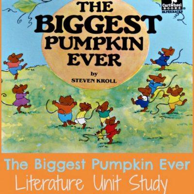 The Biggest Pumpkin Ever Unit Study
