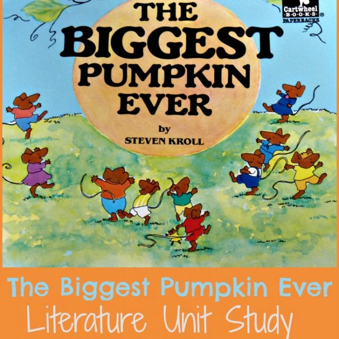 Enjoy fall learning with The Biggest Pumpkin Ever unit study! Math, science, language arts, and more!