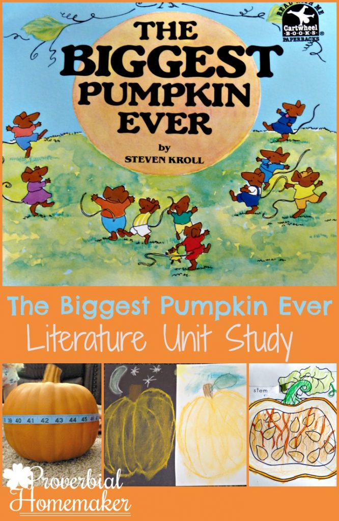 Enjoy fall learning with this fun unit study on the book The Biggest Pumpkin Ever!