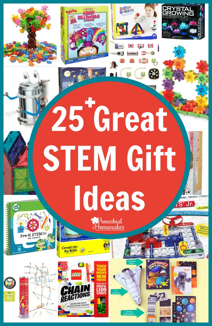 Have a little builder or engineer? Check out these 25 great STEM gift ideas!