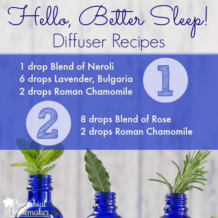 Diffuser recipes using essential oils for better sleep!