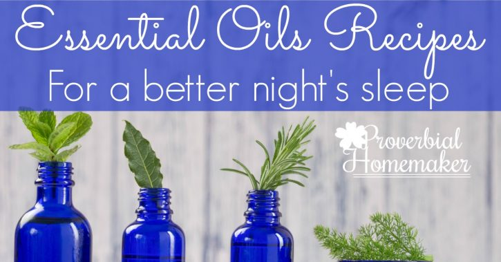 Favorite recipes using essential oils for better sleep!