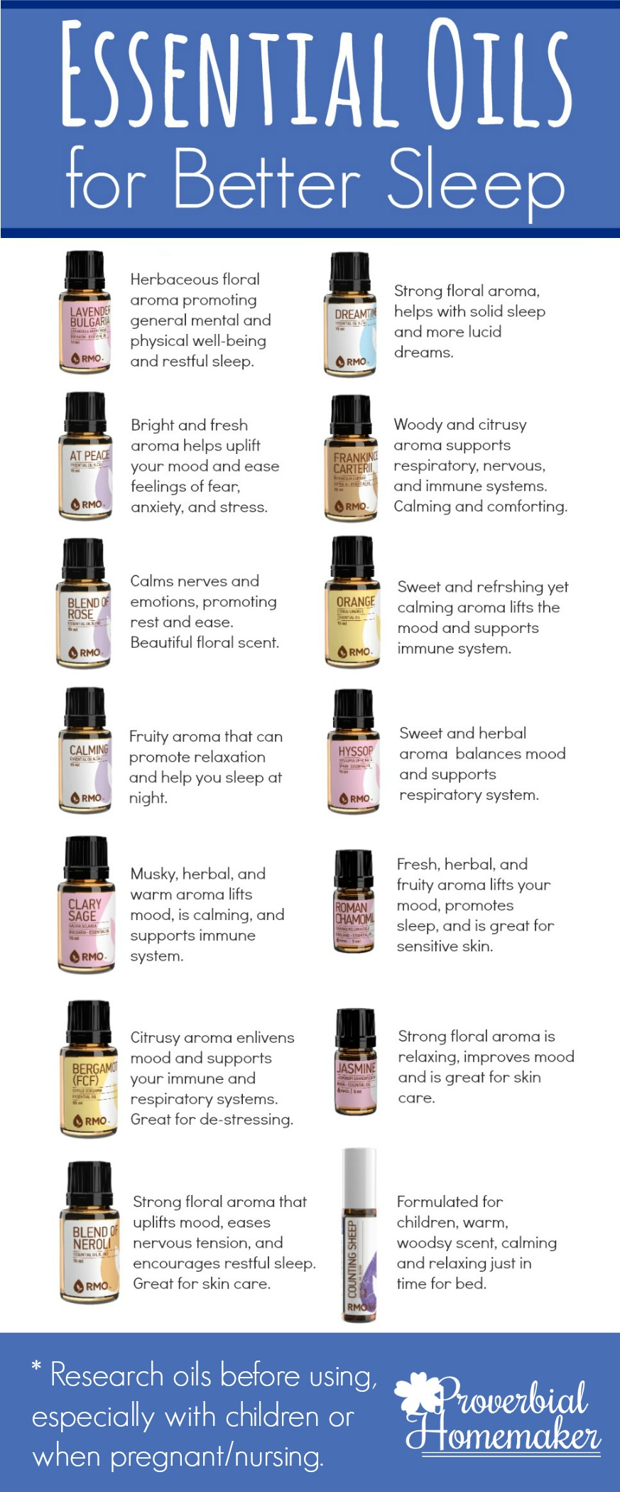 essential oils for better sleep (+ recipes!) - proverbial homemaker