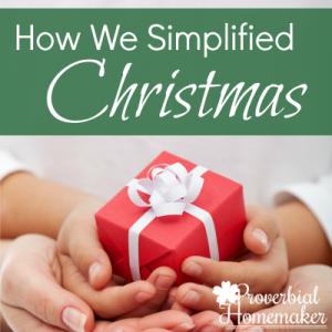 Want a more simplified Christmas? Everyone wants a simple Christmas and simple holiday season. Find out how we've learned to do that for our family.