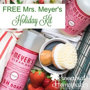 Get the Mrs. Meyer's holiday set FREE for a limited time It's a kick of Christmas in the kitchen! You will love the festive scents for holiday cleaning.