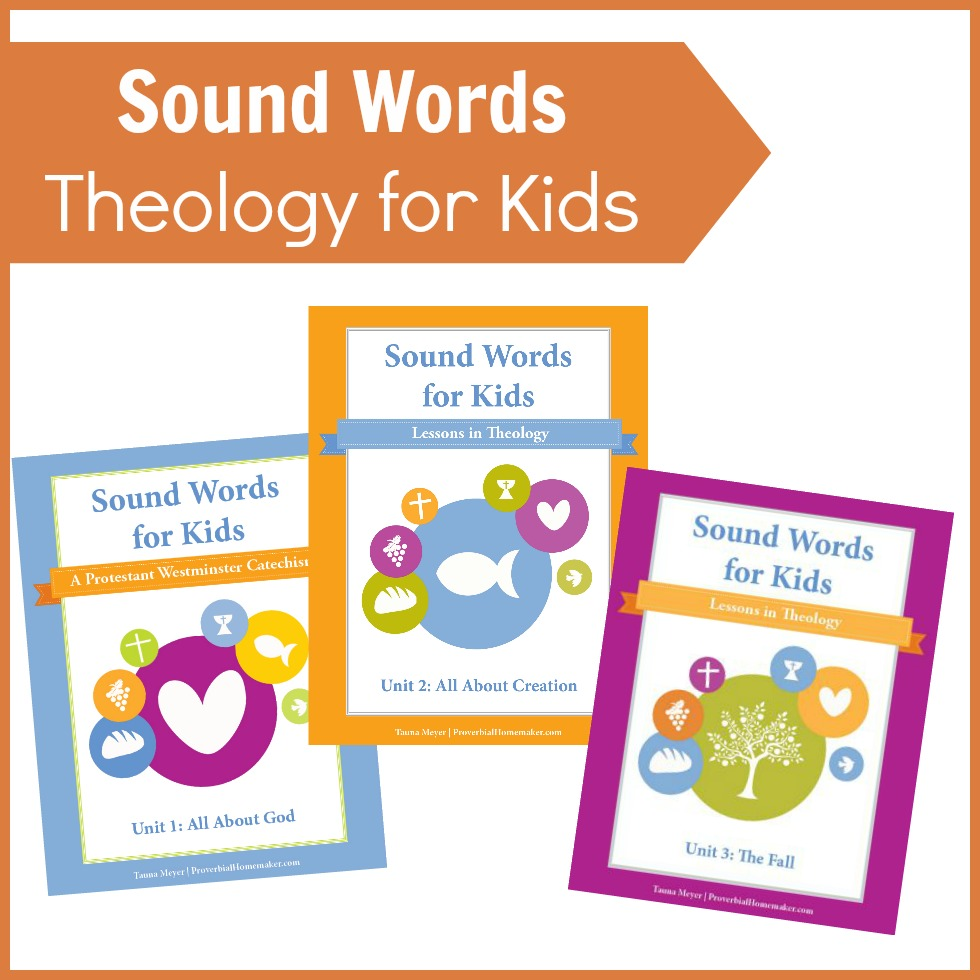 Teach your kids the basics of the Christian faith with Sound Words for Kids: Lessons in Theology!