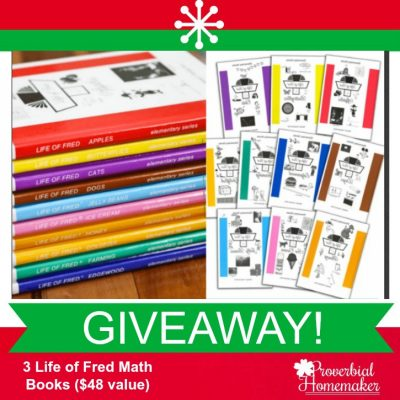 Life of Fred Math GIVEAWAY!