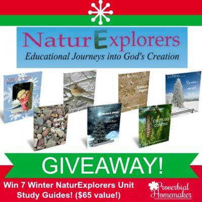 NaturExplorers Nature Study Guides GIVEAWAY ($65 value)