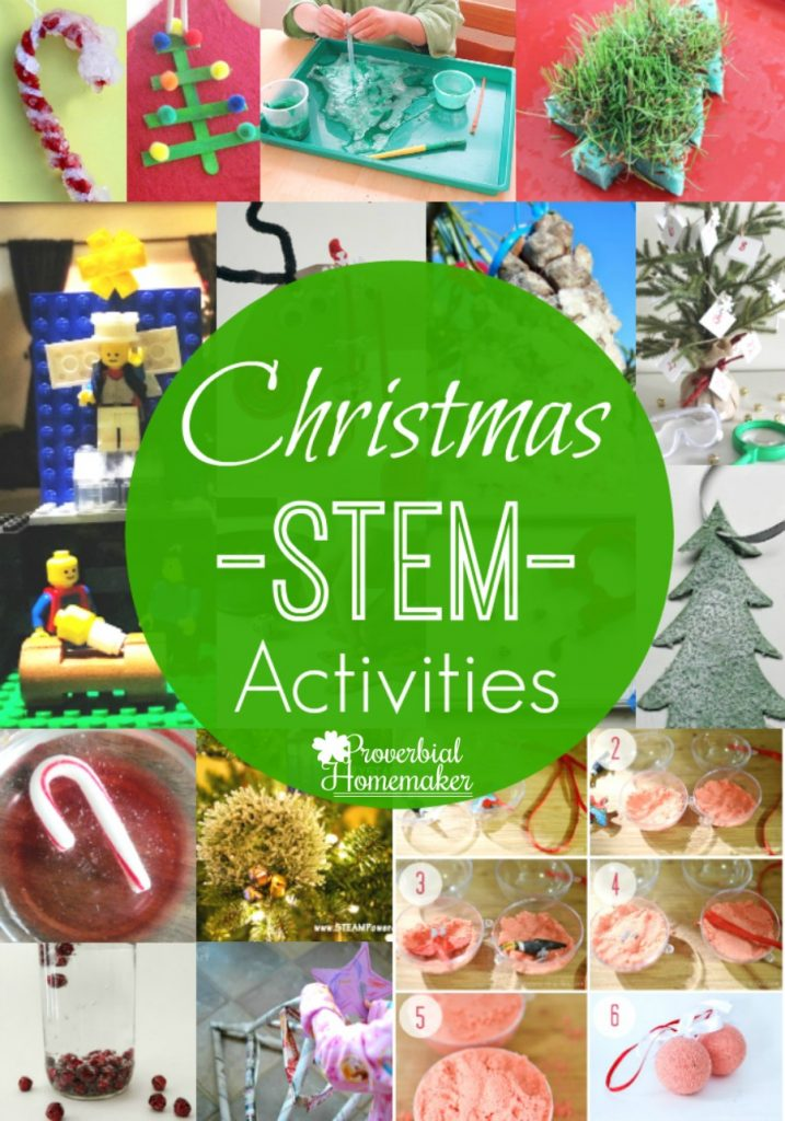 A roundup of great Christmas STEM activities to enjoy during the holidays!