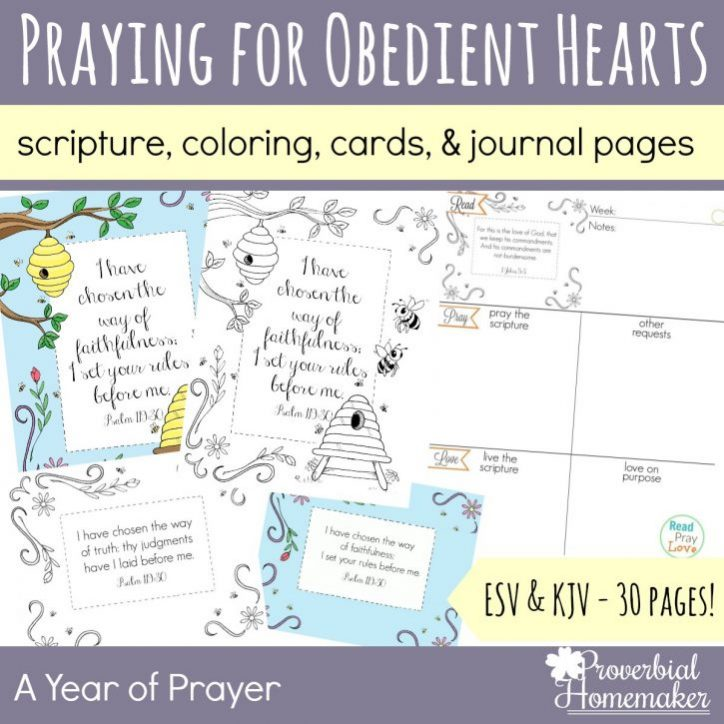Praying For Obedient Hearts Proverbial Homemaker