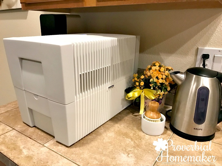 Get healthier indoor air (a great dry skin solution!) with the Venta Airwasher humidifier and purifier!
