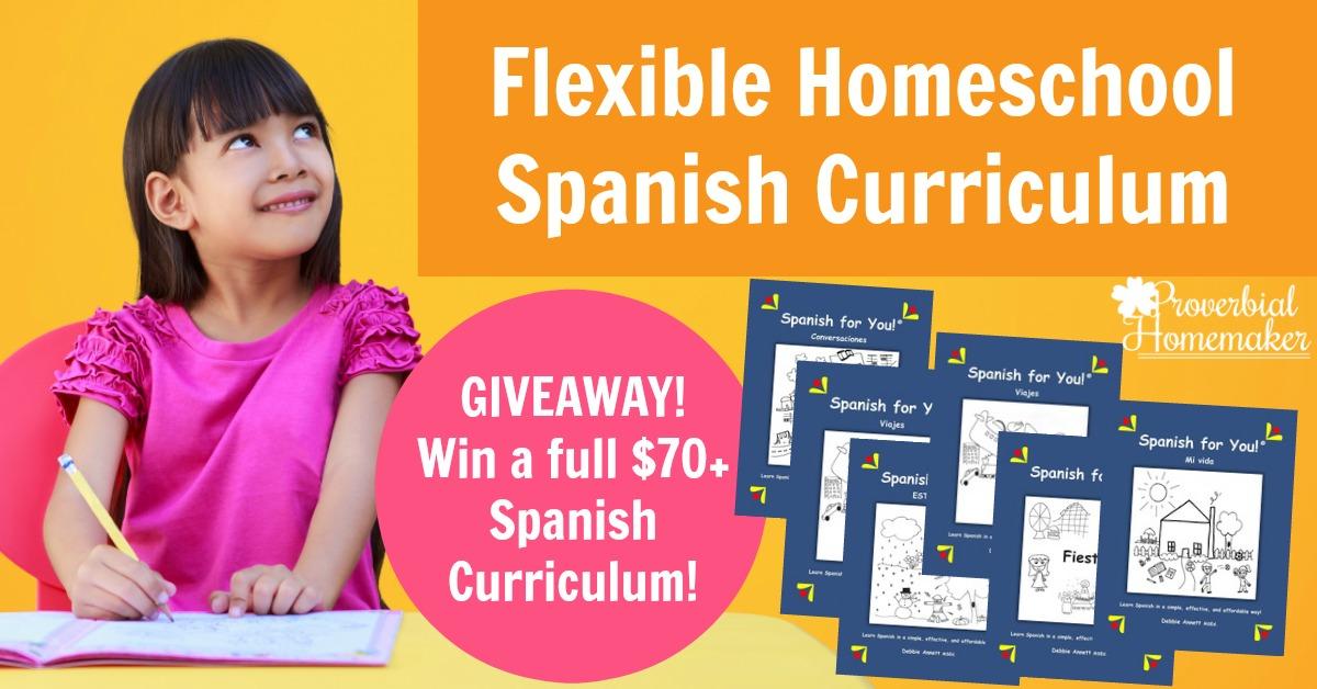 Flexible Homeschool Spanish Curriculum - Proverbial Homemaker
