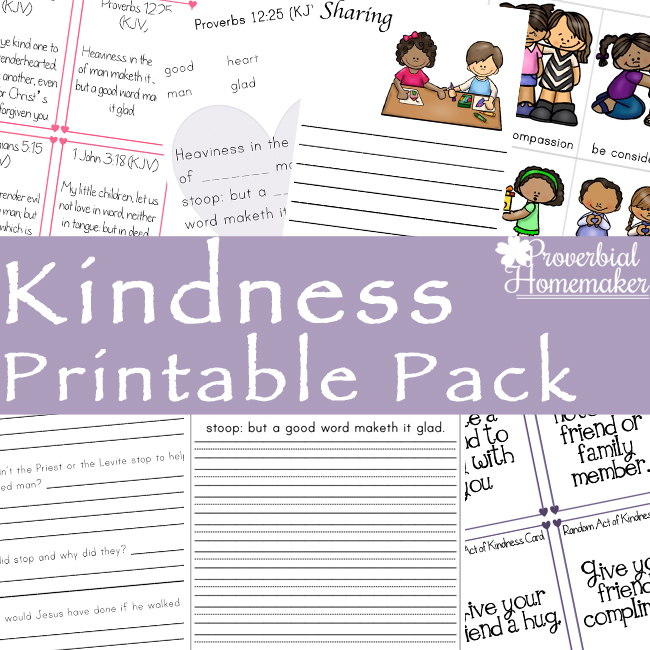 Teaching kids kindness is easy with this kindness printable pack! Includes scripture cards, random acts of kindness, learning activities, and more!