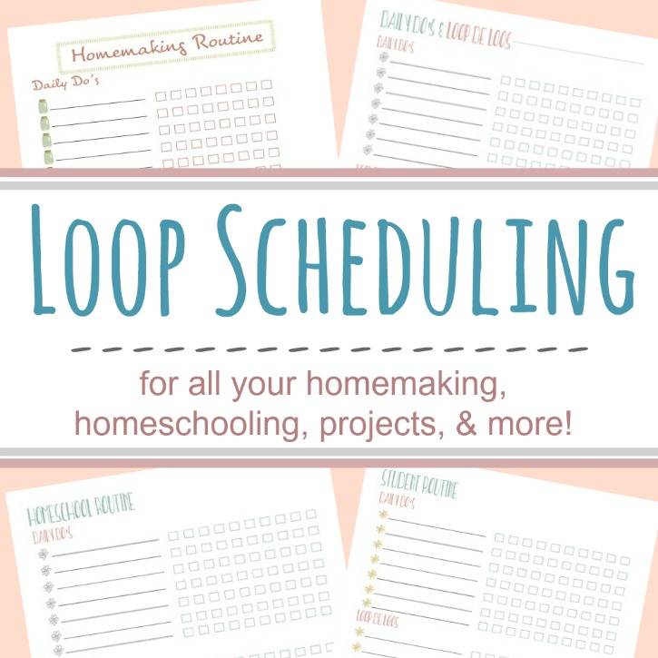 Task Management With Loop Scheduling (Free Printables!)