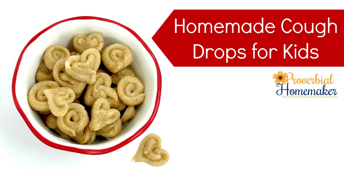 Homemade Cough Drops for Kids! LOVE this easy and natural recipe for helping sooth coughing and sore throat while giving a boost to the immune system! No ice cube trays required. :)
