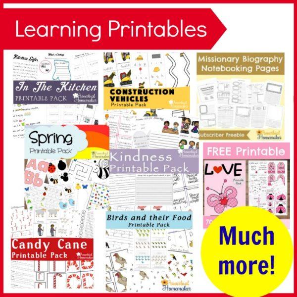 Learning Printable Packs