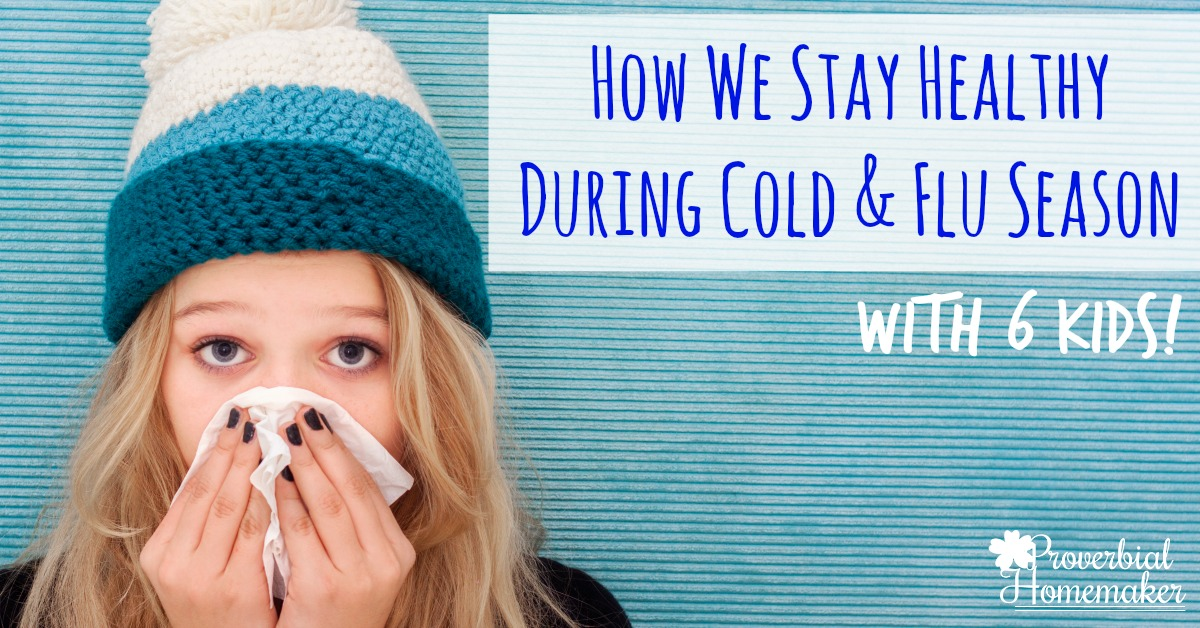 Stay healthy during cold and flu season with kids! This is a really helpful checklist that will get and keep your family healthy.