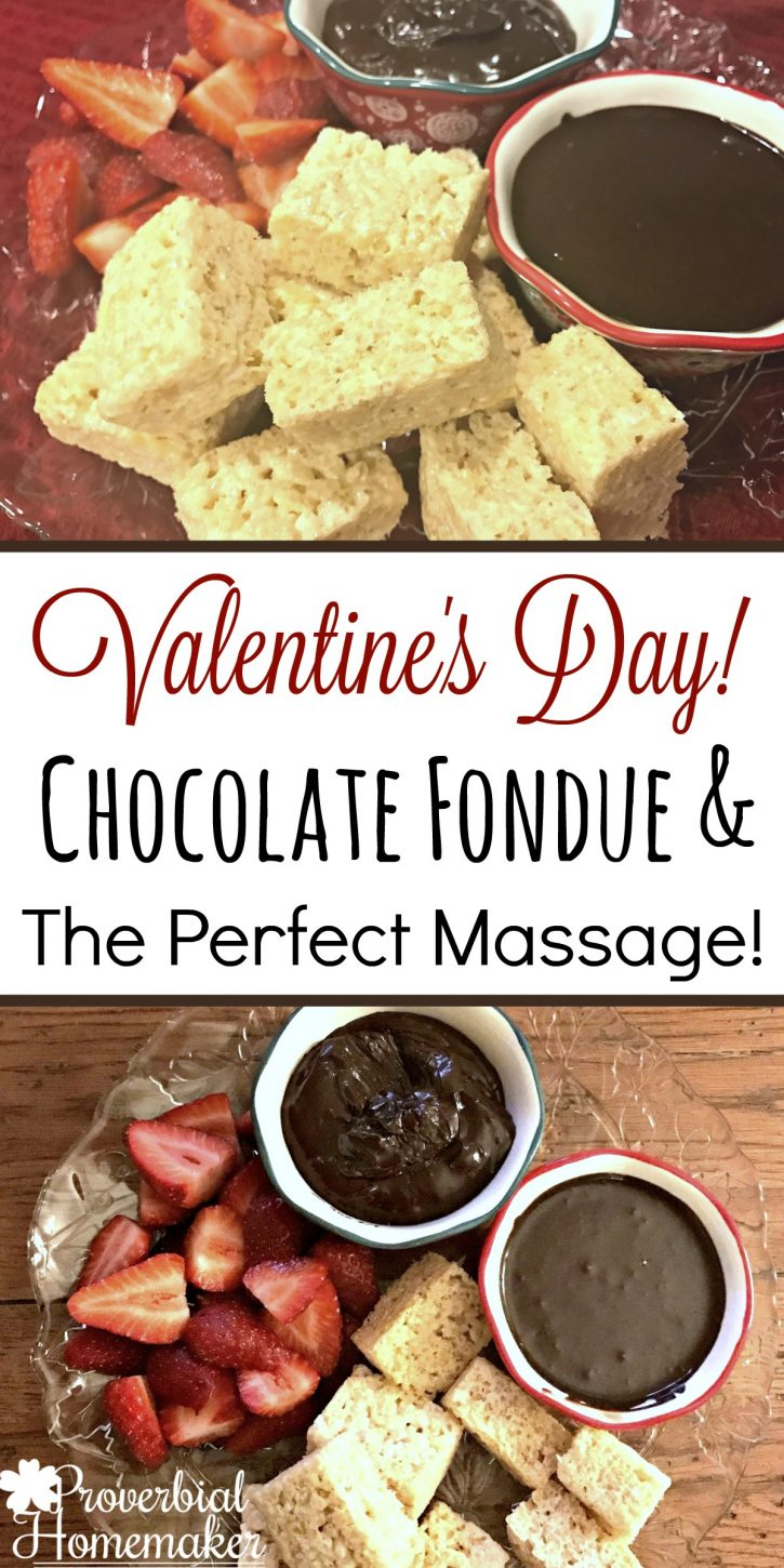 Memorable date night with so little effort! Perfect EASY 2-ingredient Irish Cream chocolate fondue and a massage instruction course I NEED!