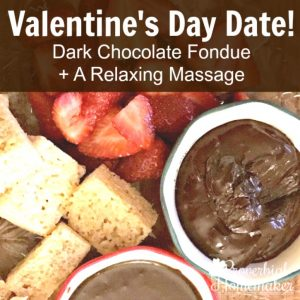 A memorable Valentine's Day with so little effort! Perfect EASY 2-ingredient fondue and a massage instruction course I NEED!