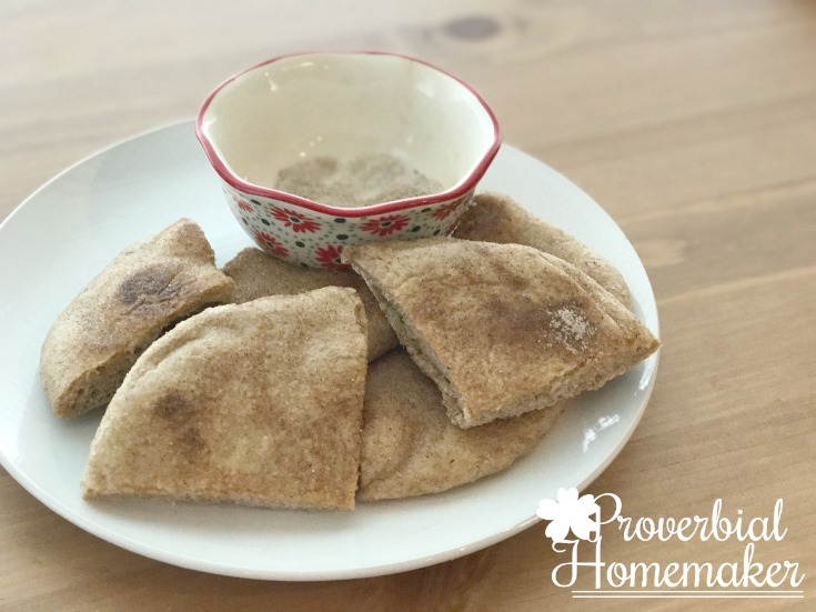 A simple and sweet cinnamon and sugar dessert using this easy homemade flatbread recipe!