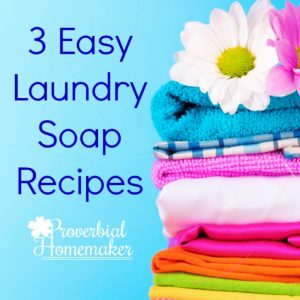 Easy Laundry Soap Recipes - a general one that's a great frugal choice, a borax-free version, and one for cloth diapering!
