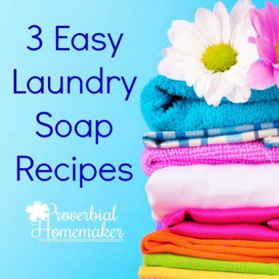 Easy Laundry Soap Recipes