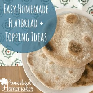 Try this easy flatbread recipe with simple topping ideas for a great lunch or snack! The greek flatbread pizza recipe is my favorite.