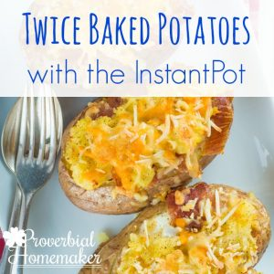 Oh these are SO good! InstantPot Twice Baked Potato Recipe