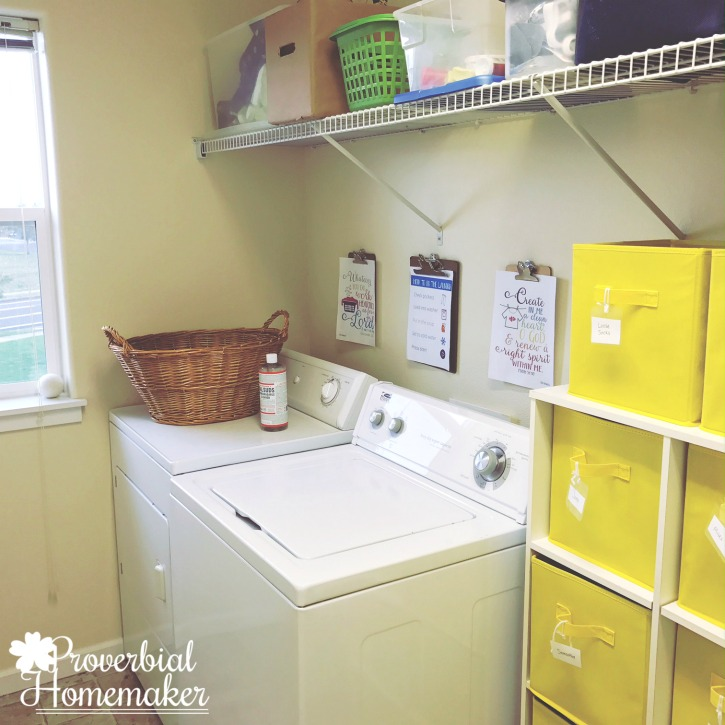 Laundry room organization - large family laundry system