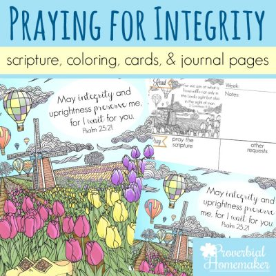 Praying for Integrity in Our Children