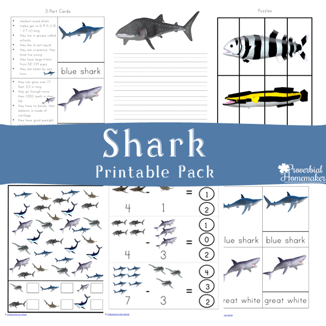 Shark Printable Pack {Free for a limited time!}