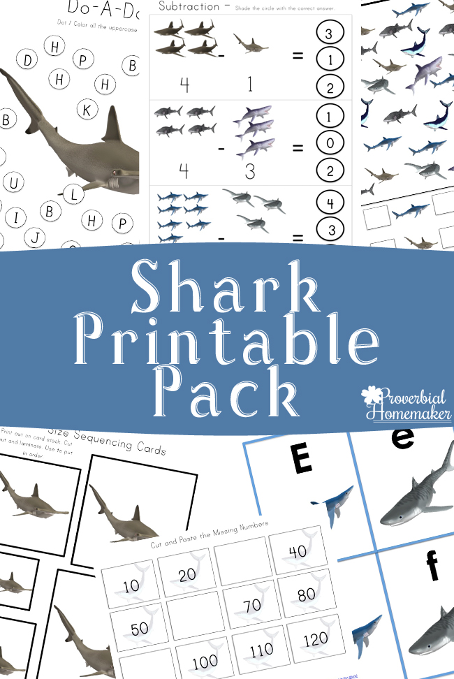 Shark Printable Pack {Free for a limited time!} - Proverbial Homemaker